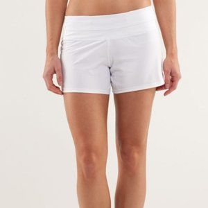 Lululemon Groovy Run White Shorts Size 4